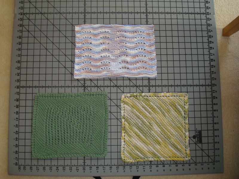 Dishcloths after blocking