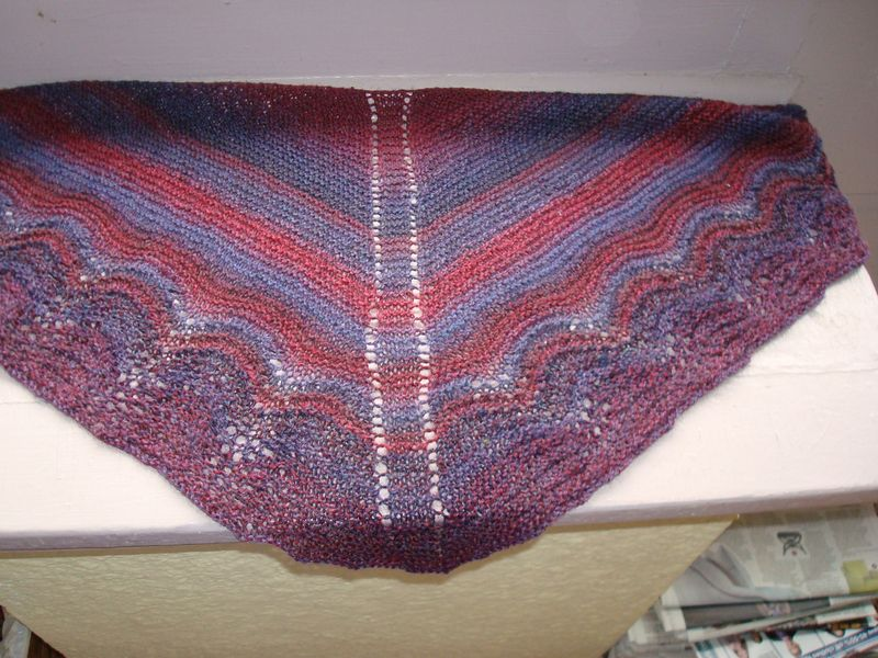 Annies shawl for Steph 2