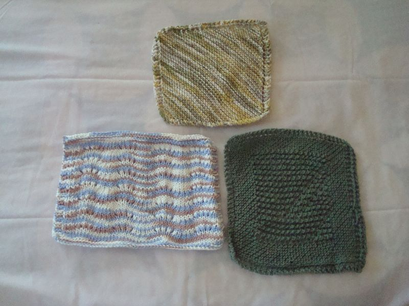 Dischloths before blocking